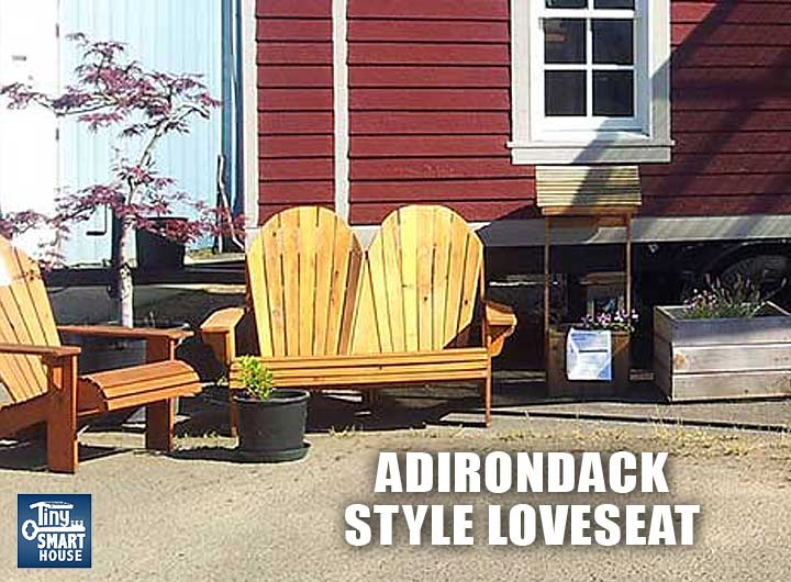 tiny house lawn furniture, redwood adirondack chairs